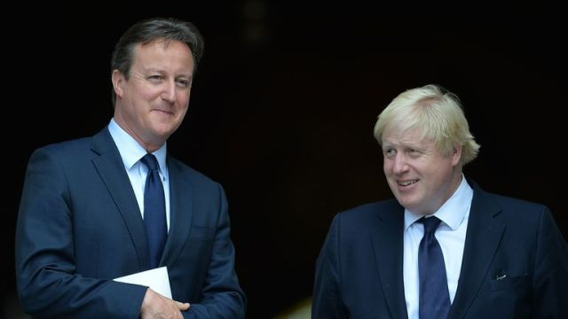 David Cameron and Boris Johnson pictured together in 2015