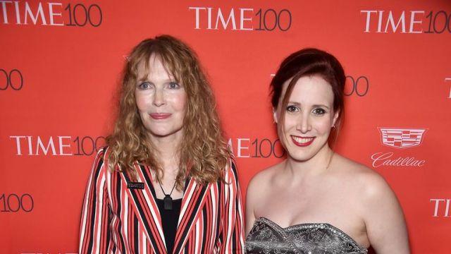 Mia Farrow and Dylan Farrow