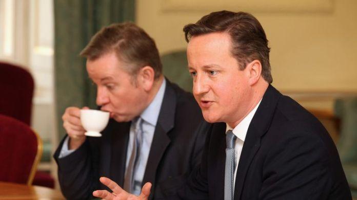"""David Cameron calls Michael Gove """"lying"""". in his book"""