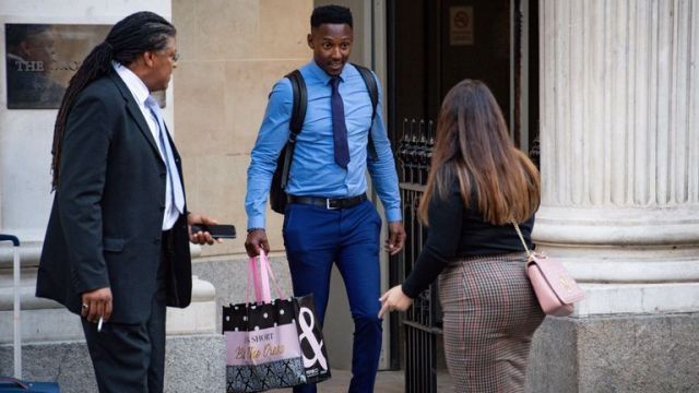 Former Take Me Out contestant Tyrone Coleman outside Bristol Crown Court