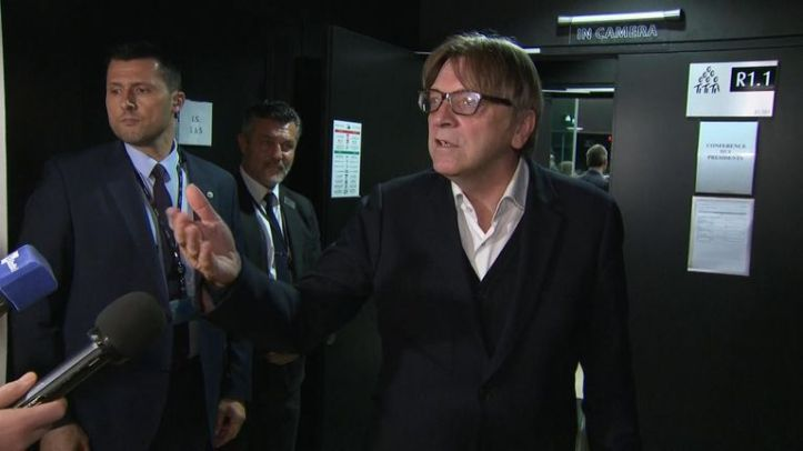 EU Brexit coordinator Guy Verhofstadt was furious in his reaction to the delay in ratification of Boris Johnson's Brexit deal