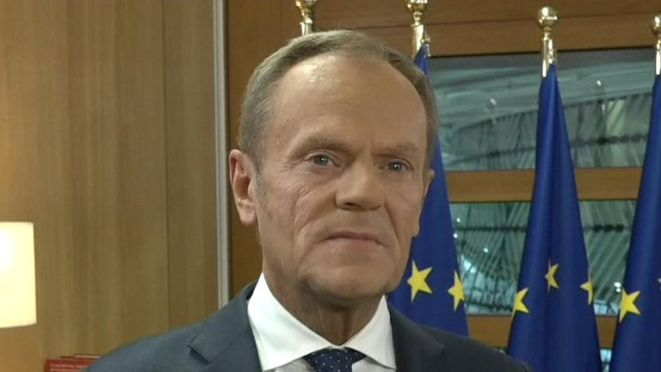 Donald Tusk thinks a Brexit announcement will happen within hours