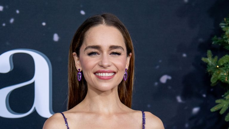 """Emilia Clarke attends the """"Last Christmas"""" New York Premiere at AMC Lincoln Square Theater on October 29, 2019 in New York City"""