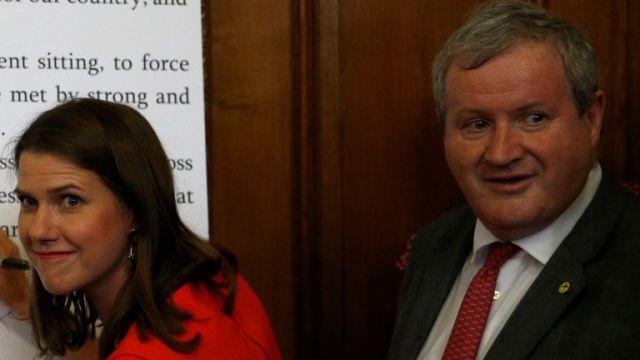 Liberal Democrat leader Jo Swinson and SNP leader Ian Blackford