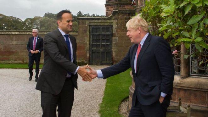 Leo Varadkar and Boris Johnson meet in Wirral