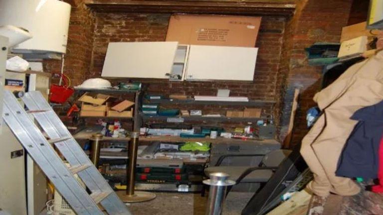 The maintenance room where the rape happened