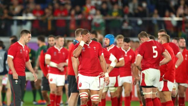 Wales players were left distraught after the defeat