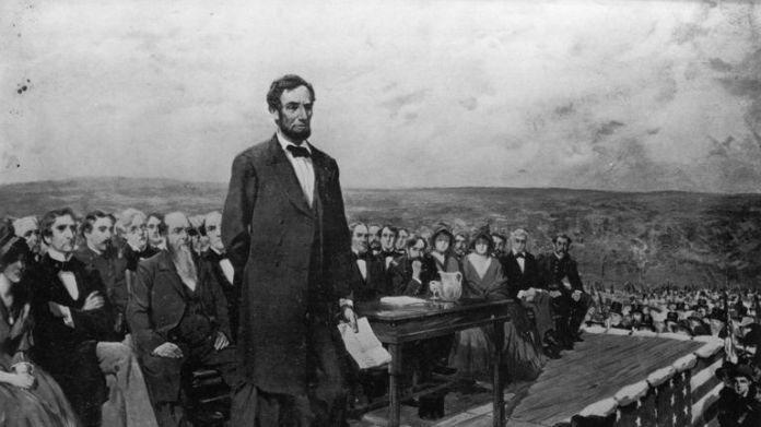 Abraham Lincoln's speech in Gettysburg was delivered in one of the darkest hours of America