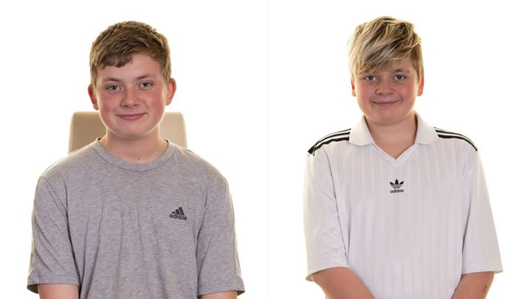 Blake and Tristan Barrass were killed on 24 May. Pic: South Yorkshire Police
