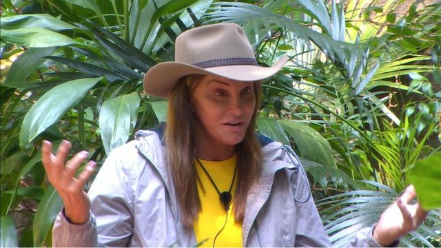 Caitlyn Jenner in the I'm A Celebrity... Get Me Out Of Here! jungle