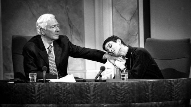 Sinead O'Connor was one of the guests on Gay Byrne's final episode of the Late Late Show in 1999