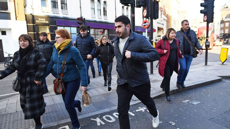 People running away from Borough Market