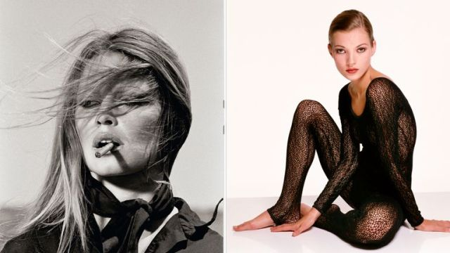 Terry O'Neill's pictures of Brigitte Bardot and Kate Moss. Pics: O'Neill/Iconic Images