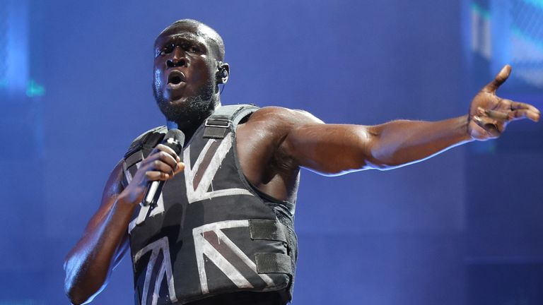 File photo dated 28/06/2019 of Stormzy performing at the Glastonbury Festival