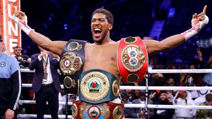 Image result for anthony joshua reclaims titles images