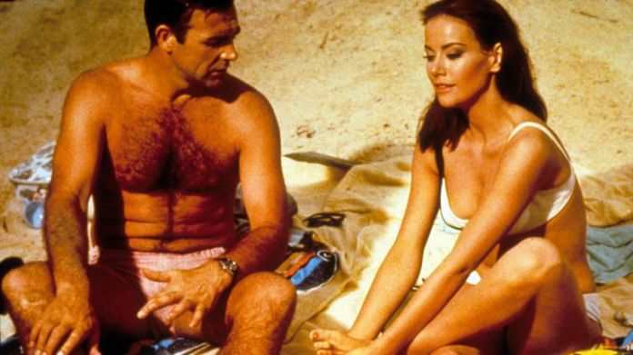 Claudine Auger and Sean Connery in Thunderball