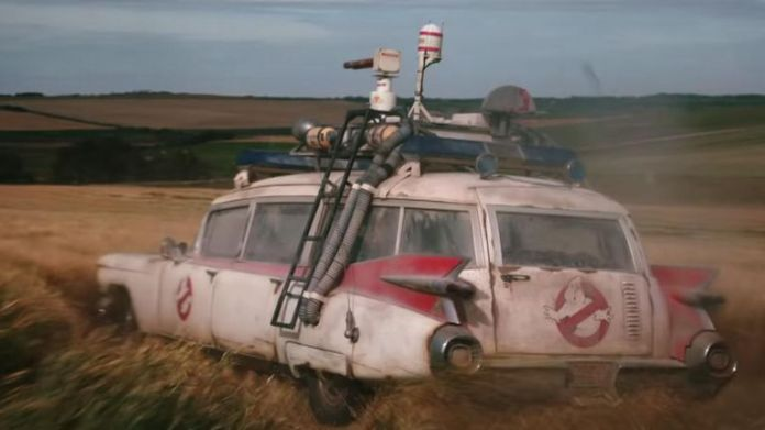 Ecto-1 makes a triumphant return. Pic: Sony Pictures