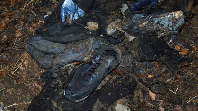 Detectives investigating the murder of Jaden Moodie found these burnt items nearby. Pic: Met Police