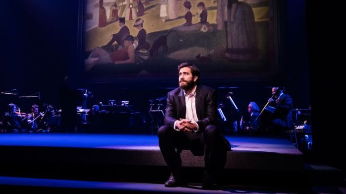 Jake Gyllenhaal as George in Sunday in the Park with George on Broadway. Photographer credit: Matthew Murphy