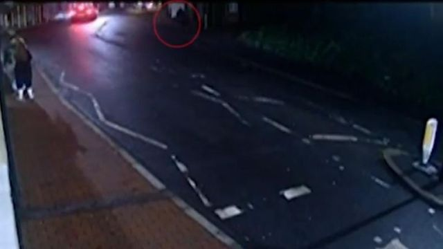 Anthony Knott can be seen walking alone in new CCTV footage