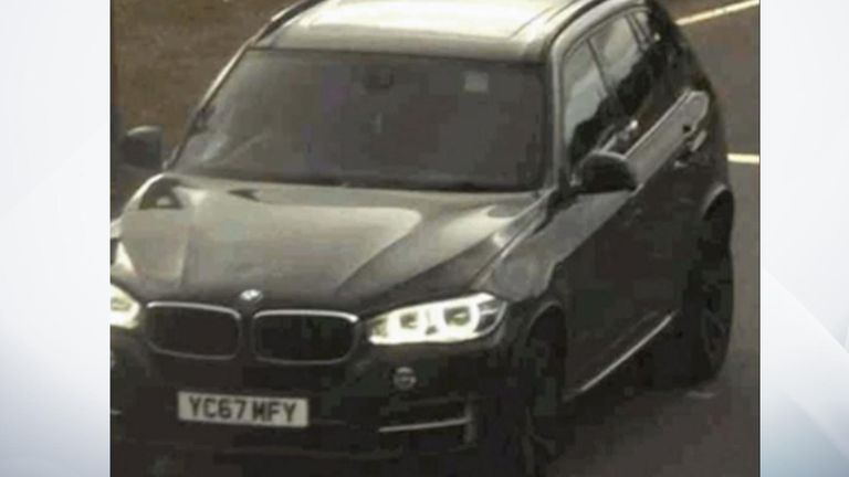 One of the suspect vehicles was a stolen black BMW X5