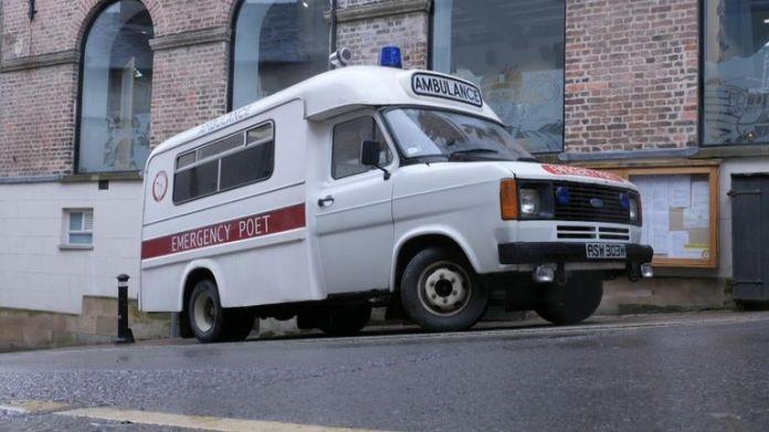 The Poetry Pharmacy ambulance