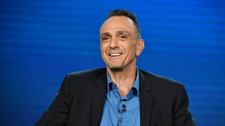 """PASADENA, CALIFORNIA - JANUARY 16: Hank Azaria of """"Brockmire"""" speaks during the IFC segment of the 2020 Winter TCA Press Tour at The Langham Huntington, Pasadena on January 16, 2020 in Pasadena, California. (Photo by Amy Sussman/Getty Images)"""