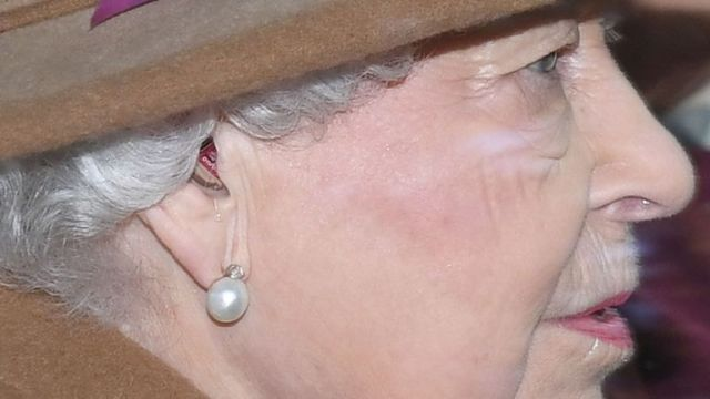 The Queen was spotted wearing a hearing aid at Sandringham