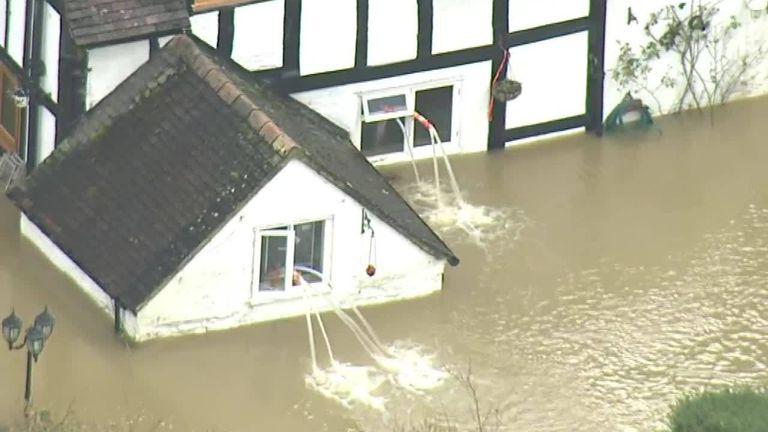 An emergency evacuation is taking place in Ironbridge, Shropshire