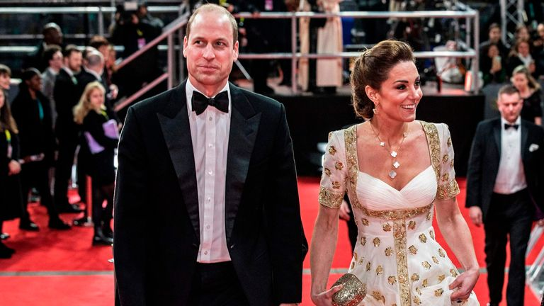 William and Kate at the BAFTAs