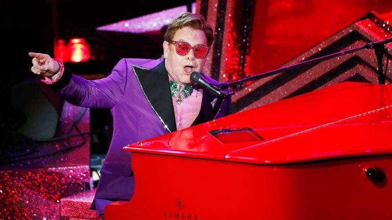 Elton John performed at the Oscars