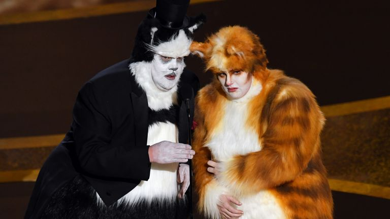James Corden and Rebel Wilson mocked Cats at the Oscars