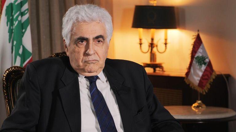 Lebanese Foreign Minister Nassif Hitti.