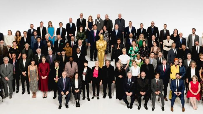 A handout photo made available by the AMPAS shows the 92nd Oscars® nominees at the Oscar Nominee Luncheon held at the Ray Dolby Ballroom, Monday, January 27, 2020