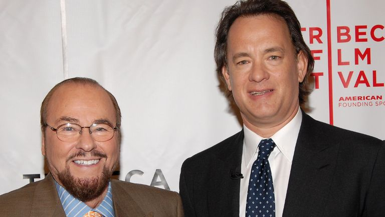 NEW YORK - APRIL 29:  (L-R) James Lipton and actor Tom Hanks pose at the 5th Annual Tribeca Film Festival April 29, 2006 in New York City.  (Photo by Bryan Bedder/Getty Images For TFF)