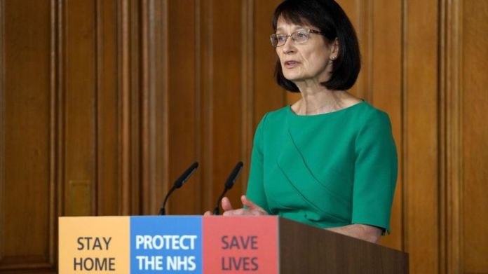 Dr. Jenny Harries spoke at the daily Downing Street briefing