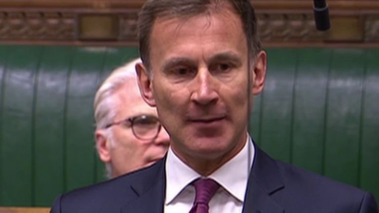 Jeremy Hunt asks the prime minister about coronavirus testing