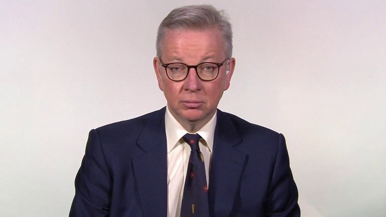 Michael Gove warns that people will die unless the public stay at home