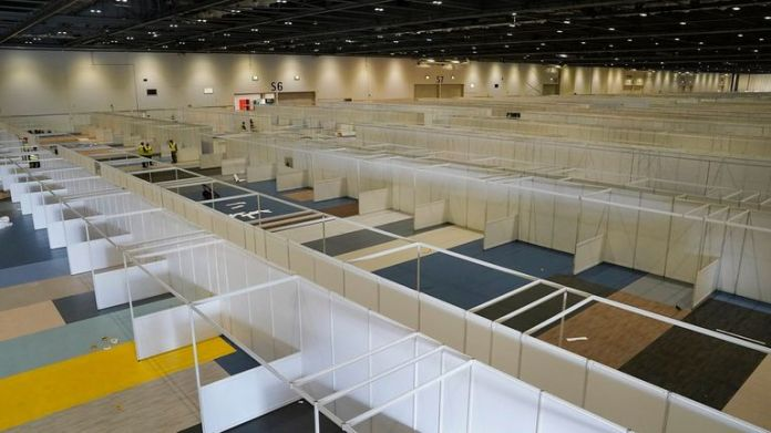 Inside the Excel temporary hospital in London