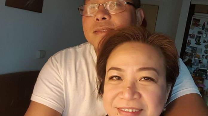 Amor Padilla Gatinao is pictured with her husband, Mario