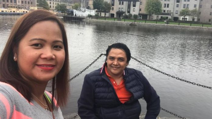 Donald Suelto is pictured with his niece, Emelyne Suelto Robertson