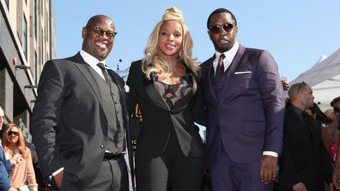 Andre Harrell, Mary J Blige and Sean & # 39; Puffy / Diddy & # 39; Comb as she is honored with a star on the Hollywood Walk of Fame