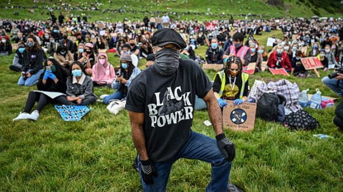 A large number also turned out at Holyrood Park in Edinburgh