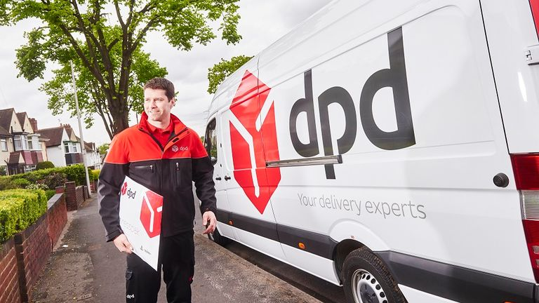 A DPD delivery truck