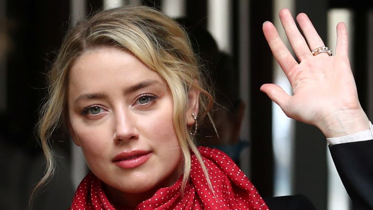 Amber Heard arrives at the High Court on Friday July 24