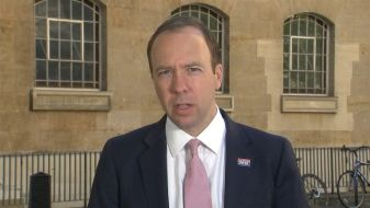 Matt Hancock says he is 'worried' about a second coronavirus wave making it's way over to the UK from Europe.