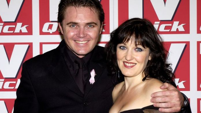 EastEnders stars Kacey Ainsworth and Alex Ferns (Trevor and Mo) attend the TV Quick Awards held at The Dorchester, Park Lane on September 9, 2002
