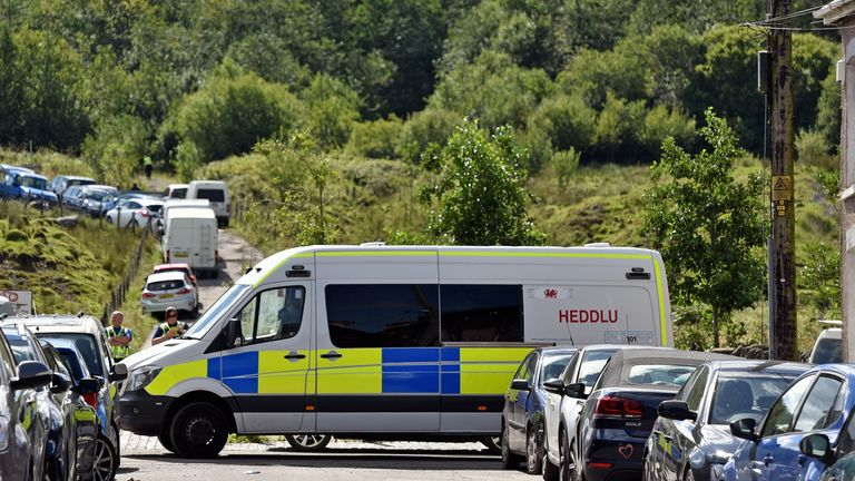 Police turned away people trying to attend the rave in Banwen