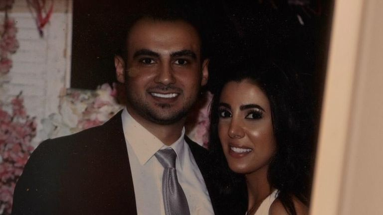 Sahar Faris with her fiance,