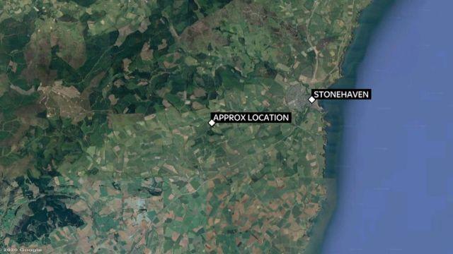 The derailment happened in Aberdeenshire